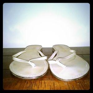 6e1dc4d8f J Crew Varese Patent Leather Flip Flops GUC!